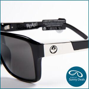 NEW Dragon The Jam Remix Jet Black Grey (42000 001) Sunglasses