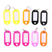 10x Luggage Tags Key Chain Suitcase Label Name Address ID Bag Baggage Travel Tag
