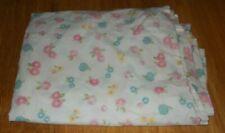 Pottery Barn Kids Floral Garden Twin Flat Sheet Pink Blue Green Yellow