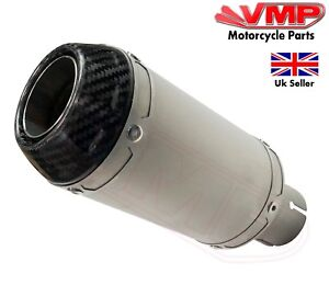 Motorcycle Stubby Sports Exhaust Slip On End Can Stainless Steel Carbon Fiber