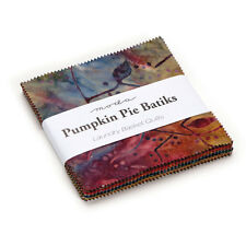 "Moda FABRIC Charm Pack ~ PUMPKIN PIE BATIKS ~ by Laundry Basket - 5"" squares"