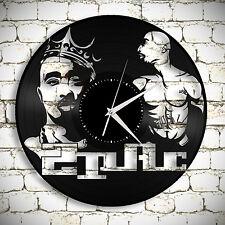 Tupac Record Clock, 2Pac Art, Shakur Makaveli Clock, Rapper Gift, Wall Decor