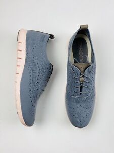 Cole Haan Zerogrand Oxford Womens Sneakers 11B Grey Knit Pink Shoes W06727