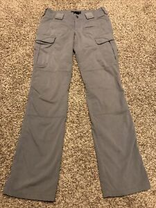 5.11 tactical pants gray womens size 2 long canvas cargo a45