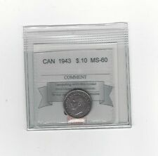 **1943**, Coin Mart  Graded Canadian,  10  Cent, **MS-60**