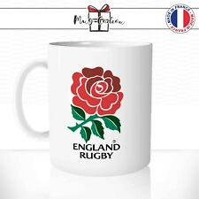 Mug Rugby Club England Angleterre Rose Flower Logo Sport - Tasse personnalisée