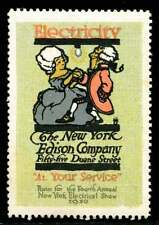 USA Poster Stamp - New York Edison - Dancing Couple - F.G.Cooper