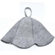 Sauna Cap Hat Grey Felt Pools Spas Unisex Accessories Bath Beanie Head Home Hot