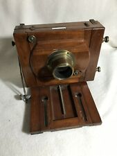 1880's Polished Wood & Brass LANCASTER INSTANTOGRAPH Half Plate View Camera