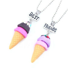 2pcs ICE CREAM Best Friends Children' Necklace Teens Girls 2 Necklaces UK Seller