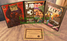 BATMAN VENGEANCE OF BANE #1 Autographed COA Nolan Dixon BATMAN 497 Binder +++
