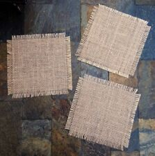 Primitive Burlap Banner Candle Mat Centerpiece Wedding Bridal Country Gift Tags