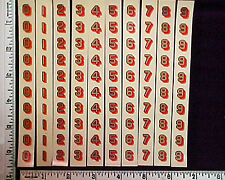 Post Office Box Door Original 500 4-color decals - New/Old Stock, Made in USA