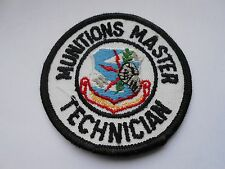 vintage patch of the strategic air command   munitions master technician