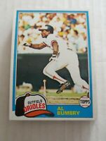 1981 Topps Baltimore Orioles Al Bumbry #425 Lot Of 23 Ex+ - NM Mint