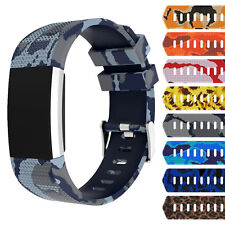 StrapsCo Patterned Silicone Rubber Watch Band Strap for Fitbit Charge 2