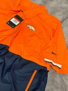 New w/tags NFL Nike Denver Broncos Short Sleeve Coaches Windbreaker XL