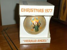 "1977 Schmid Sr. Berta Hummel ""Herald Angel"" 4th in Series Glass Ornament w/Box"