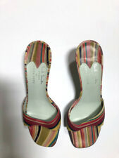 PAUL SMITH WOMEN for Emma Hope Mint color Striped heeled mules  - 39.5 m /US 8.5