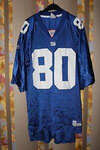 NEW YORK GIANT NFL REEBOK #80 JEREMY SHOCKEY FOOTBALL SHIRT JERSEY USA BLUE