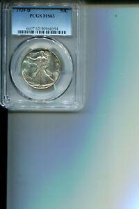 1939-D WALKING LIBERTY 50C PCGS MS63 BEAUTIFUL BLAST WHITE BETTER DATE