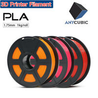 US Anycubic 1.75mm PLA/ABS/TPU Filament Mutil-Colored For 3D Printer Mega Chiron
