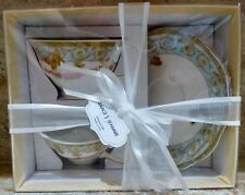 GRACE'S TEAWARE - NEW IN BOX - 4 PIECE SET - CUPS AND SAUCERS