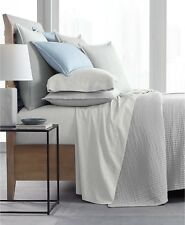 Hotel Collection Matelasse Cotton KING Coverlet WHITE Bedding $280 E91291