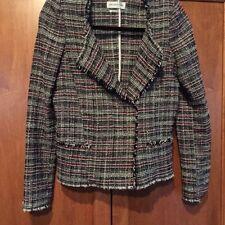 Etoile Isabel Marant SZ Medium 40 GAYLORD Woven Black & RedTweed Jacket Blazer