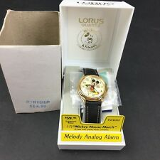 Lorus by Seiko Mickey Mouse March Melody Alarm Quartz Watch Vintage NOS Complete