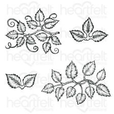 Heartfelt Creations Leafy Accents Cling Stamp Set HCPC-3835
