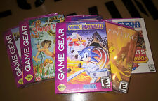 ## SEGA Game Gear Spiele - Jungle Book, Lion King, Sonic Spinball u.a. - SEALED