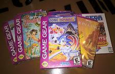 ## SEGA Game Gear Spiele - Jungle Book, Lion King, Sonic Spinball u.a. - SEALED