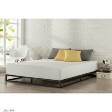 Bed Frame Queen 6 Inch Platform Low Profile Wood Steel Base Foundation Home New