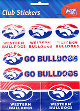 WESTERN BULLDOGS * CLUB STICKERS * AFL * NEW & SEALED