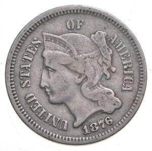 1876 Nickel Three-Cent Piece - Walker Coin Collection *216