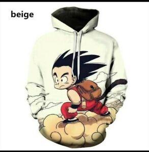Dragonball Hoodie son Goku Pullover unisex neu Anime Kapuzenpullover