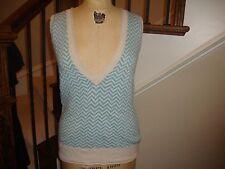 Urban Outfitters KIMCHI & BLUE Blue Zig Zag Chevron Sweater Vest M