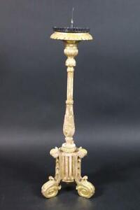Klassizistischer Kerzenleuchter Holz geschnitzt vergoldet 19./20.Jhd (DI311)