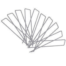 10 Pack 6'' 9 Gauge Heavy Duty Garden Securing Pegs Sod Staples Stakes USA MADE