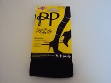 Pretty Polly XL Size Light Support 60 Denier Black Opaque Tights