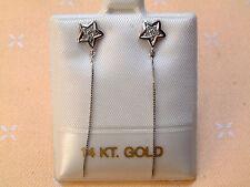 Exclusive Ohrstecker - Sterndrachen mit Diamanten - 14 Kt. Weißgold - 585 -
