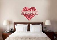 Custom Name Heart Valentines Love Vinyl Decal Wall Sticker Words Letters Wedding