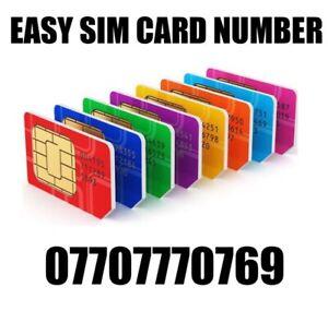 GOLD EASY VIP MEMORABLE MOBILE PHONE NUMBER DIAMOND PLATINUM SIMCARD 07707770769