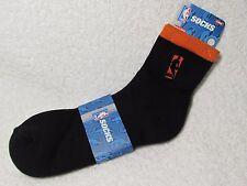 NEW NBA BASKETBALL Logoman Player Crew Socks Mens Large Size ORANGE & BLACK