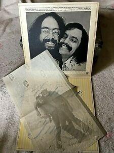 CHEECH & CHONG VINYL big bambu LP w/ ROLLING PAPER 4/20 sister mary elephant '72