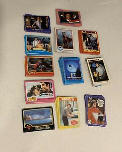 Lot Of 12 Various Different Trading Cards Star Wars Mork Rocky Alians Superman