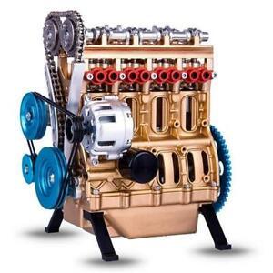 Resin Car Mini Assemble Inline Four-Cylinder Engines Model Kit Toys HOT
