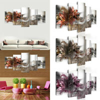 5PCS Modern Unframed Picture Abstract Canvas Wall Art Oil Painting Room Decor