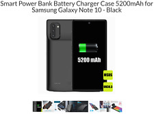 Smart Power Bank Battery Charger Case 5200mAh for Samsung Galaxy Note 10 - Black